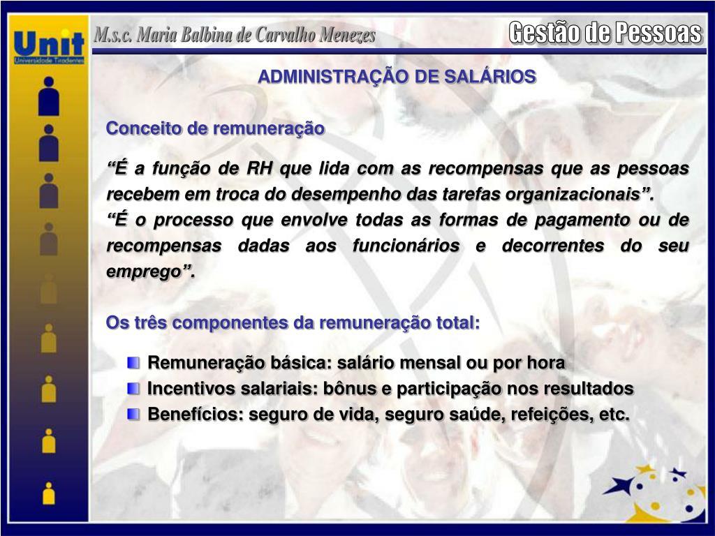 ADMINISTRAÇÃO DE SALÁRIOS