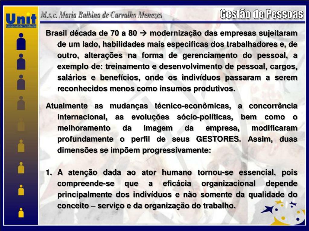 Brasil década de 70 a 80