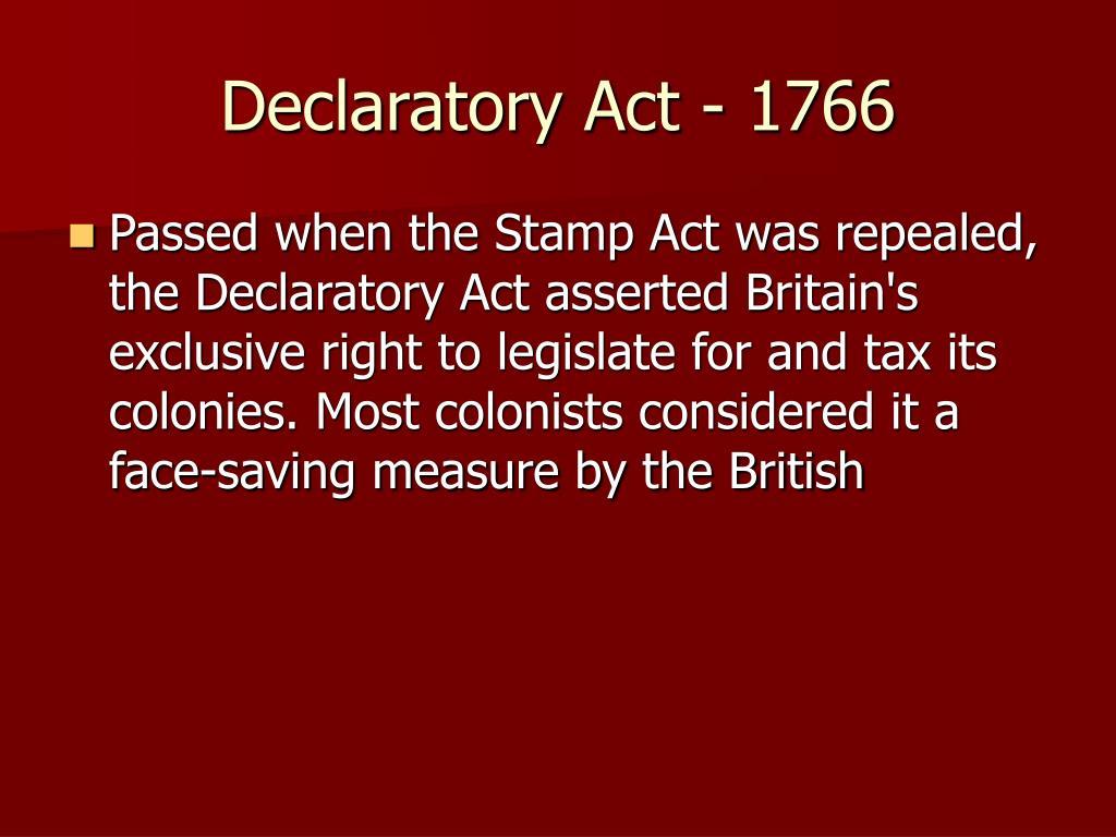 Declaratory Act - 1766