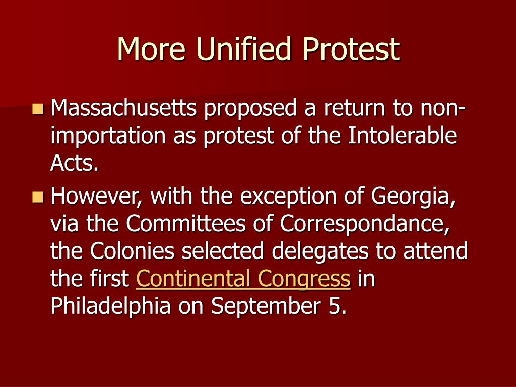 More Unified Protest