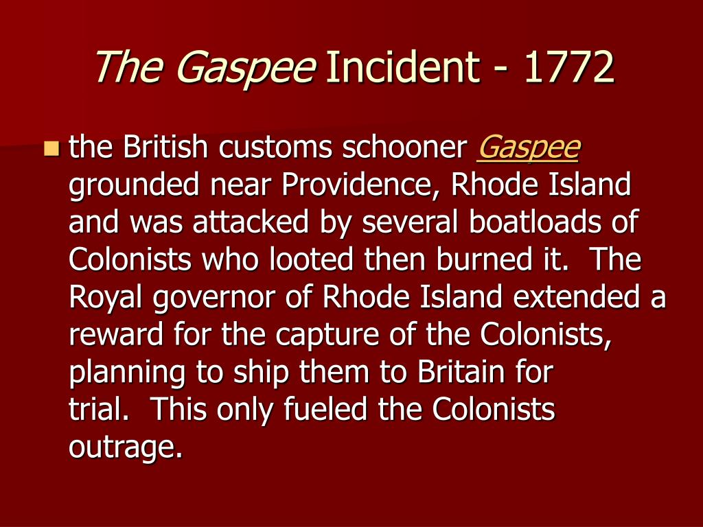 The Gaspee