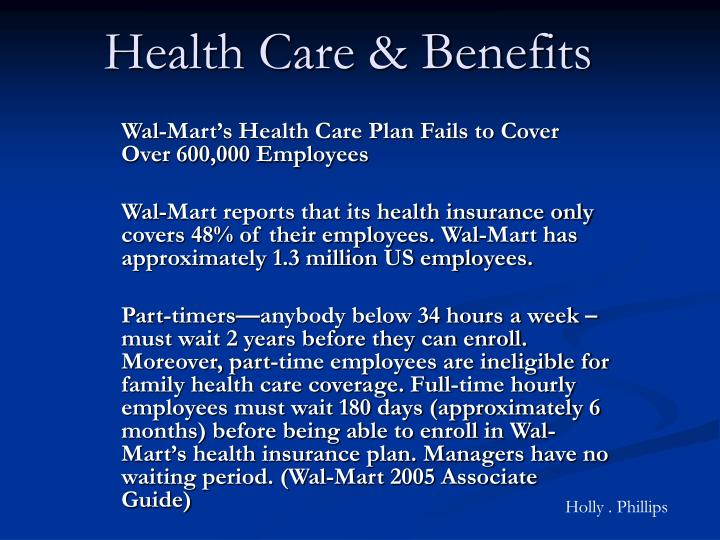 Health Care & Benefits
