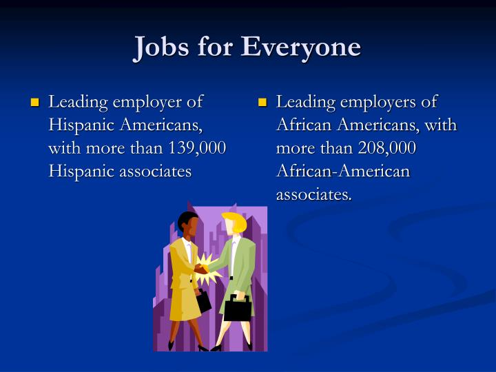 Leading employer of Hispanic Americans, with more than 139,000 Hispanic associates