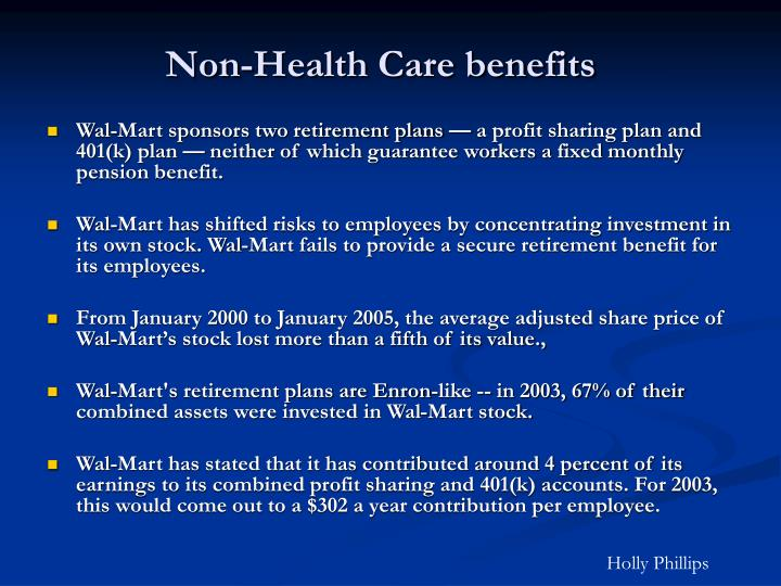 Non-Health Care benefits