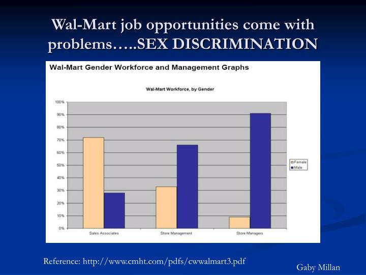 Wal-Mart job opportunities come with problems…..SEX DISCRIMINATION