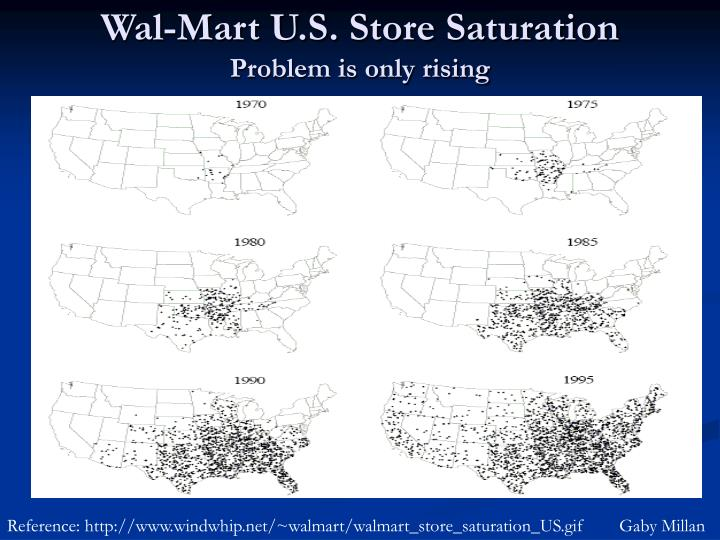 Wal-Mart U.S. Store Saturation