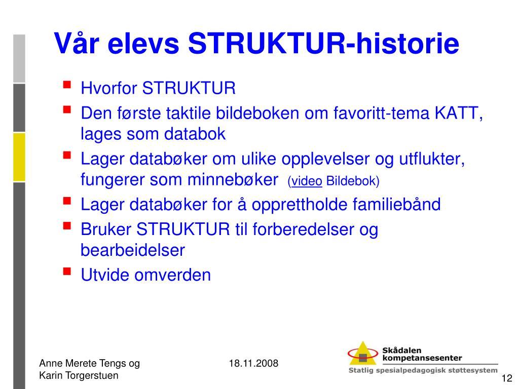 Vår elevs STRUKTUR-historie