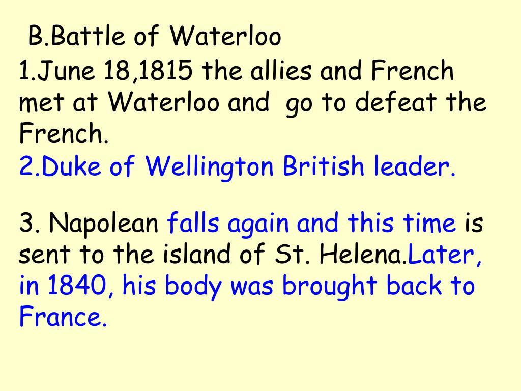 B.Battle of Waterloo