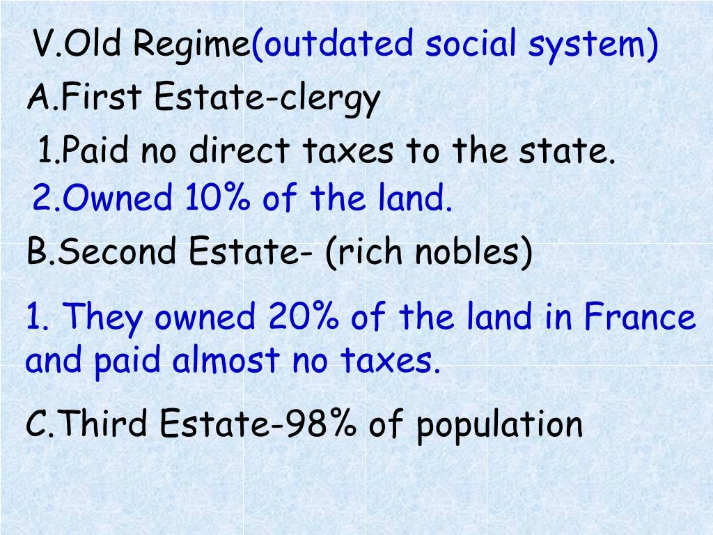 V.Old Regime