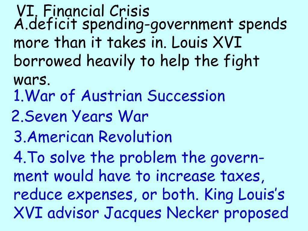 VI. Financial Crisis