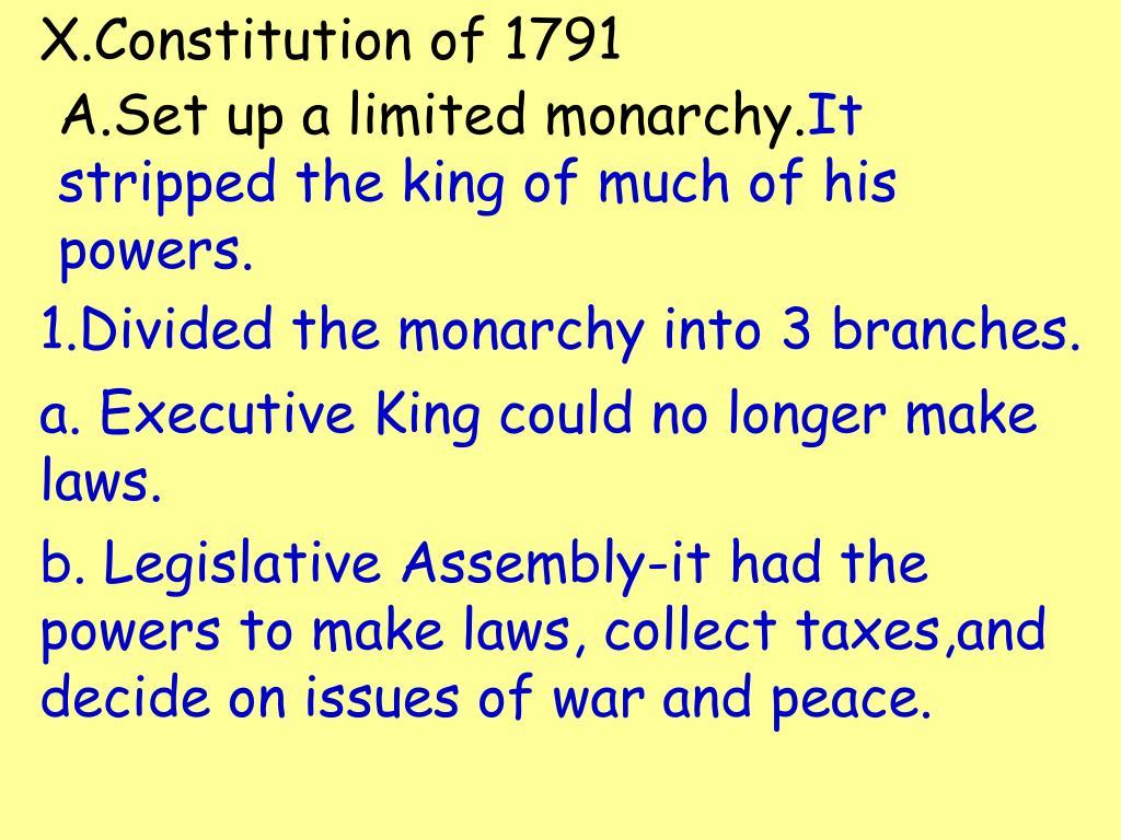 X.Constitution of 1791