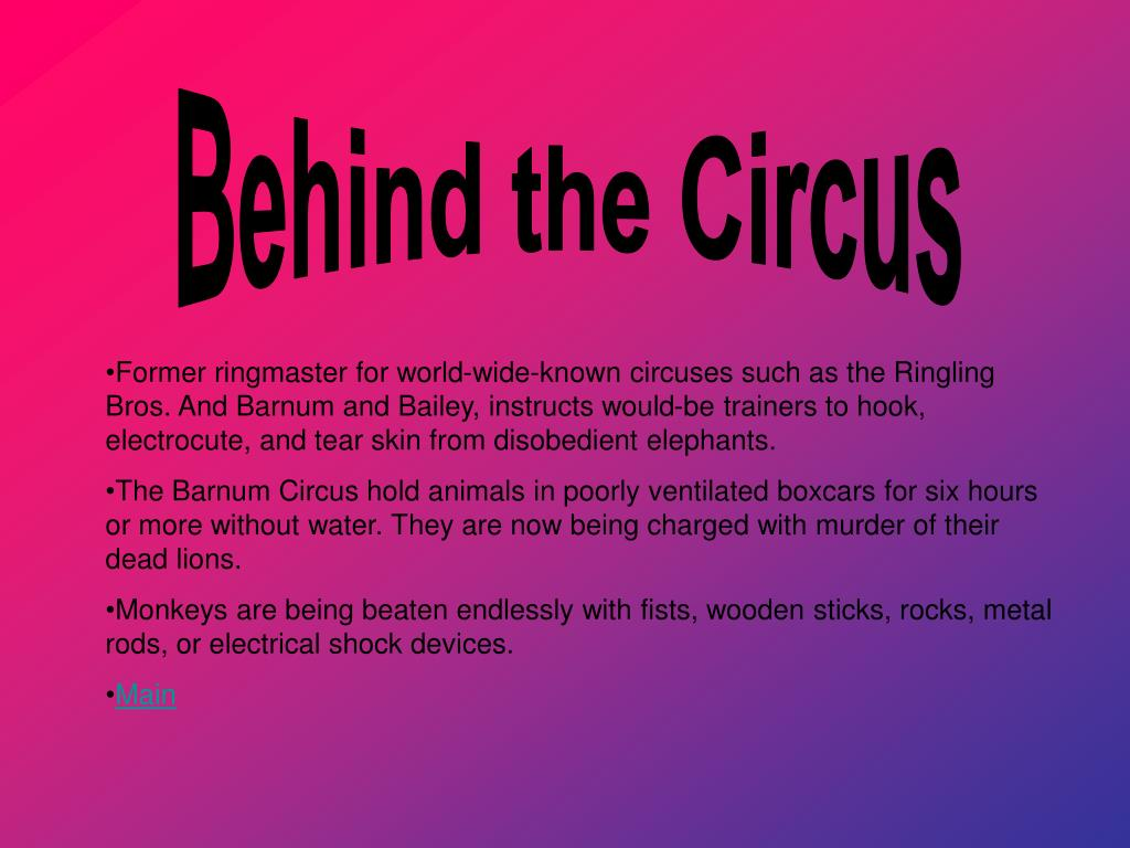 Behind the Circus