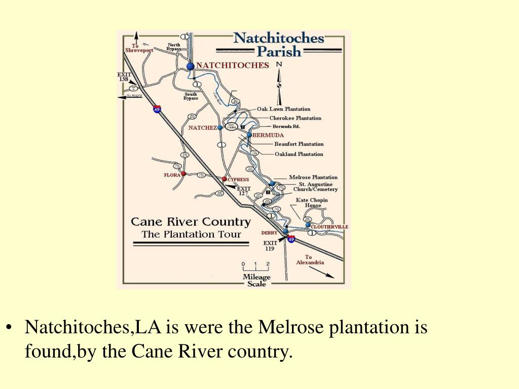 Natchitoches,LA is were the Melrose plantation is found,by the Cane River country.