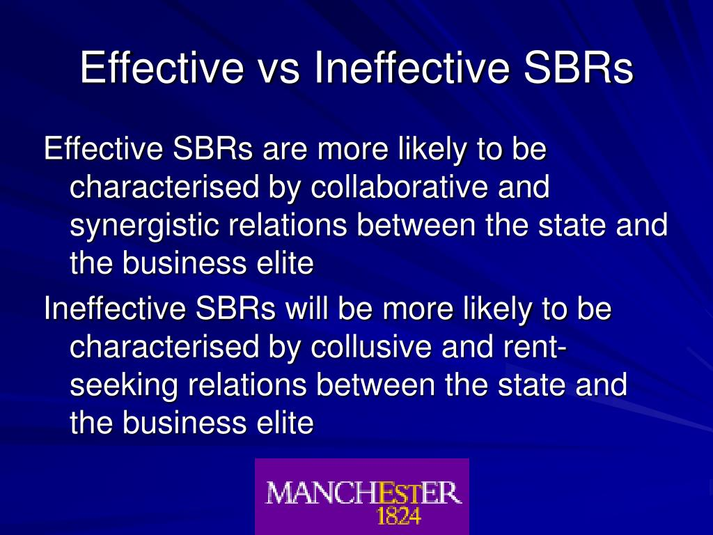 Effective vs Ineffective SBRs