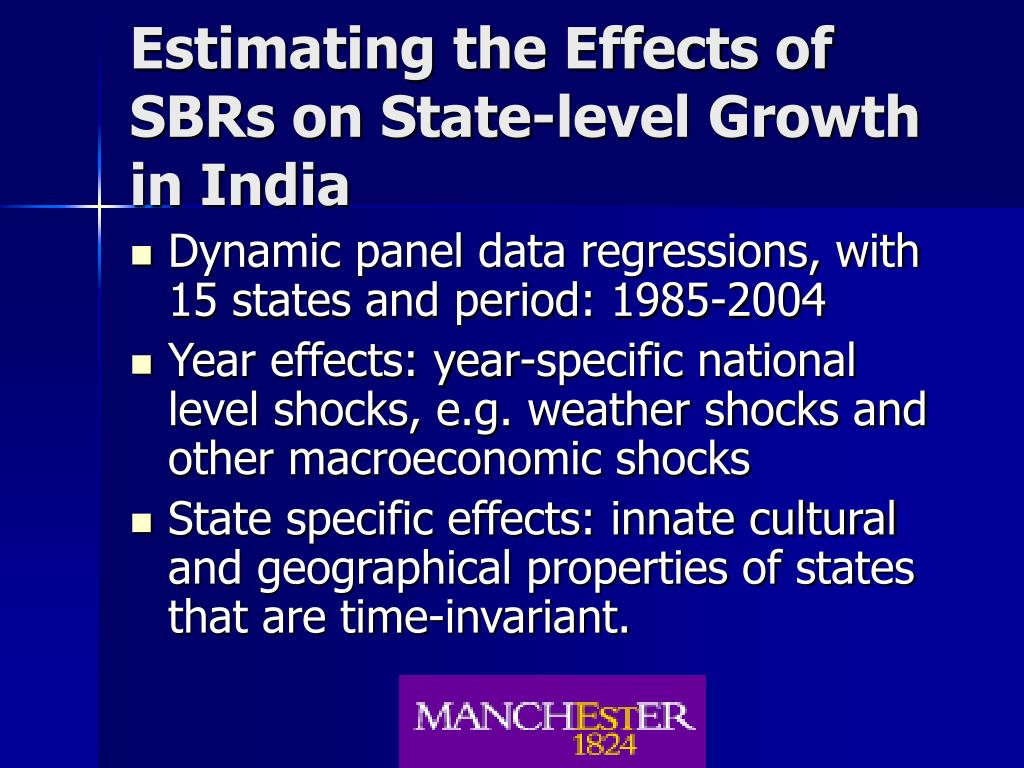 Estimating the Effects of SBRs on State-level Growth in India