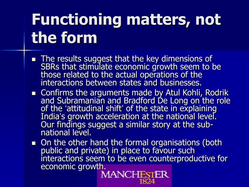 Functioning matters, not the form
