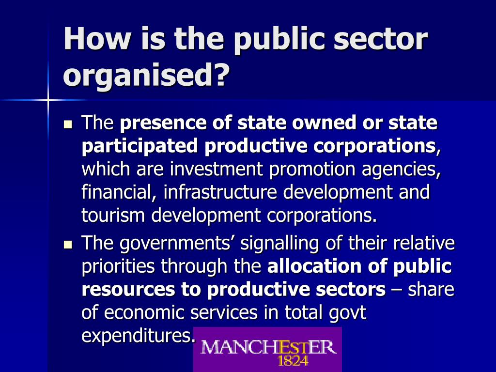 How is the public sector organised?