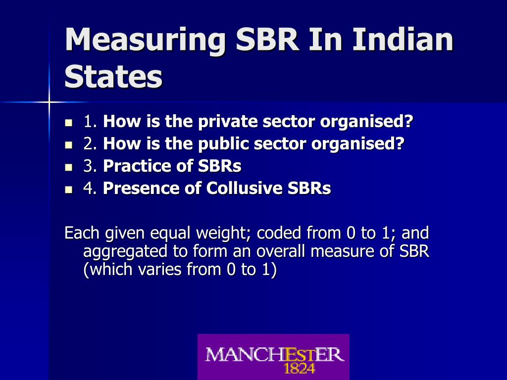 Measuring SBR In Indian States