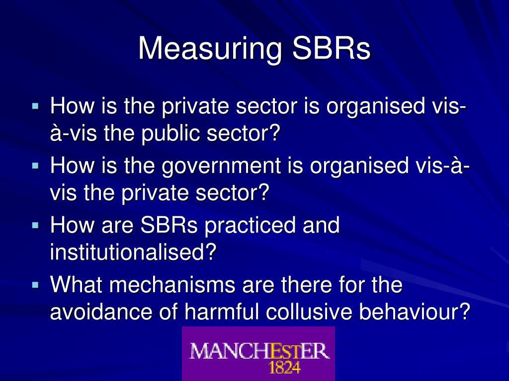 Measuring SBRs