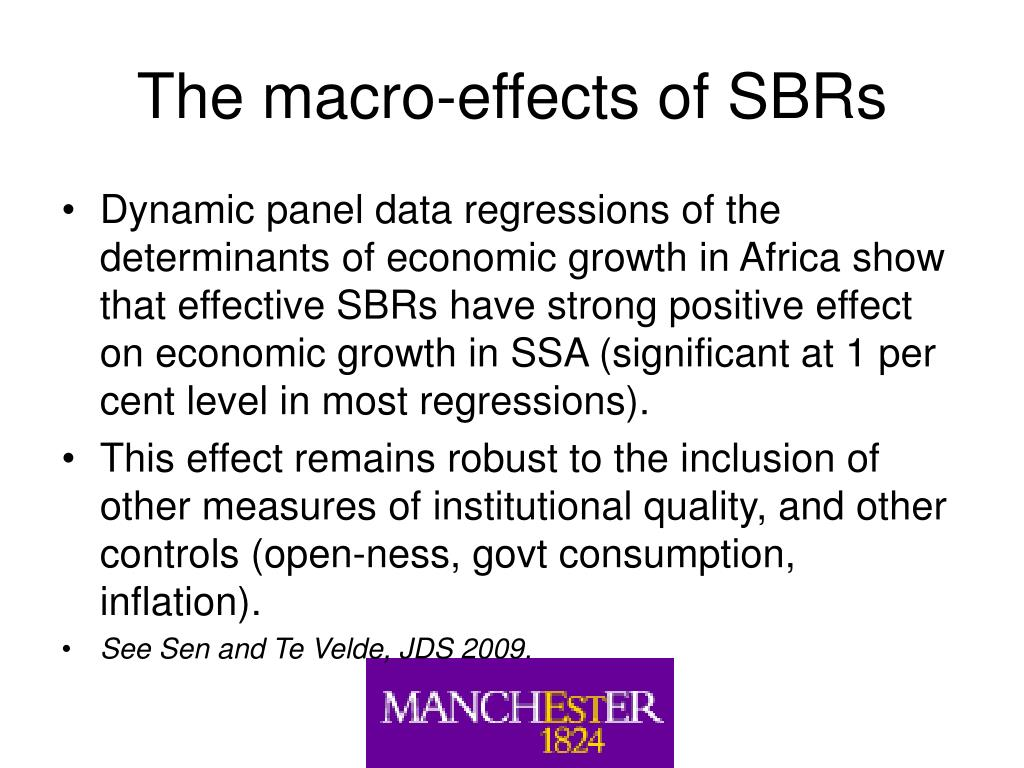 The macro-effects of SBRs