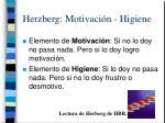 herzberg motivaci n higiene