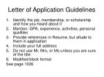 letter of application guidelines