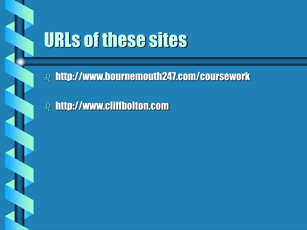 URLs of these sites