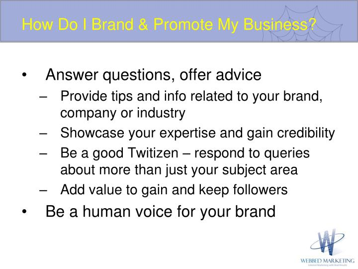 How Do I Brand & Promote My Business?