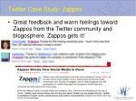 twitter case study zappos2