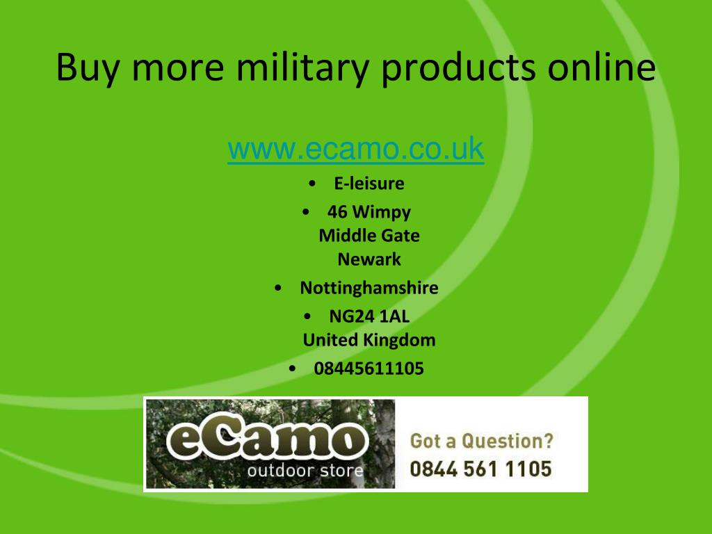 Buy more military products online