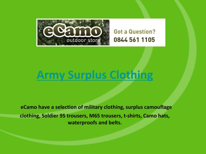 Army Surplus Clothing