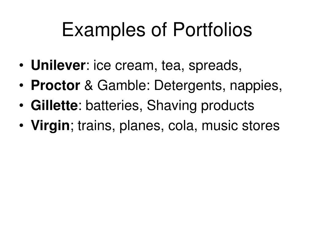 Examples of Portfolios