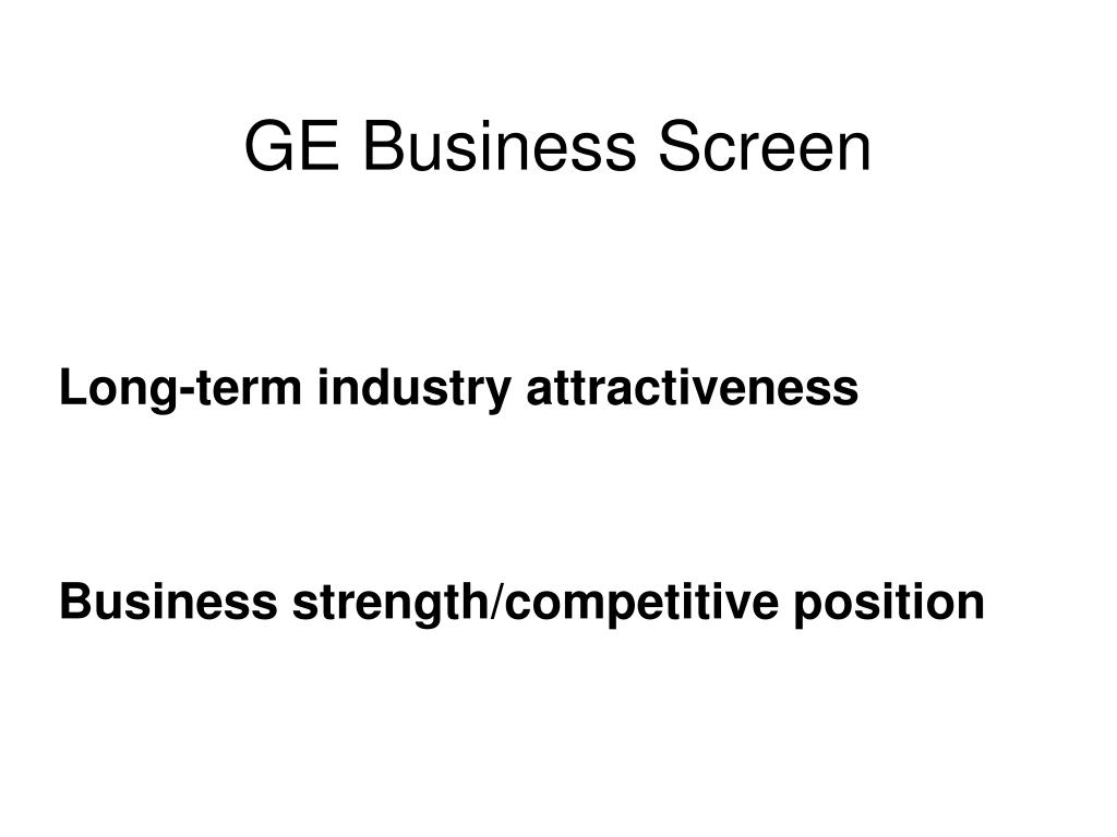 GE Business Screen