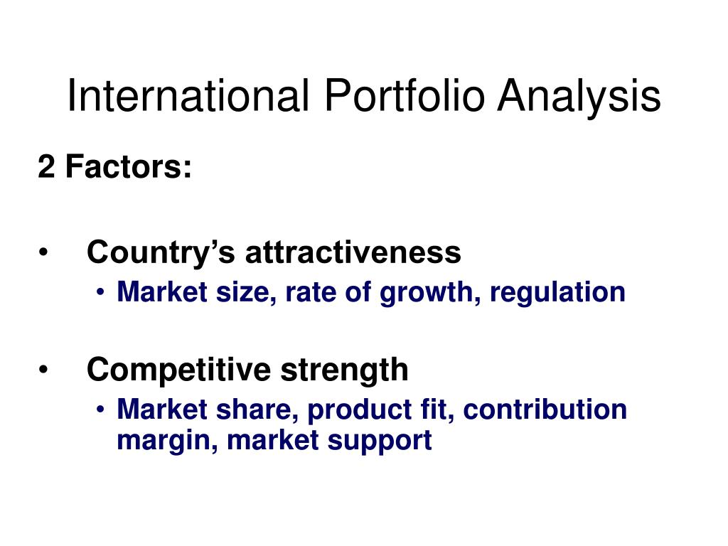 International Portfolio Analysis