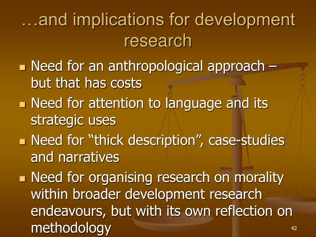 …and implications for development research