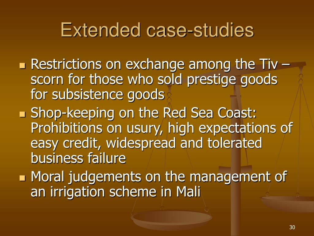 Extended case-studies