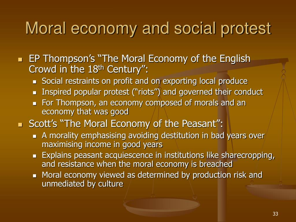 Moral economy and social protest