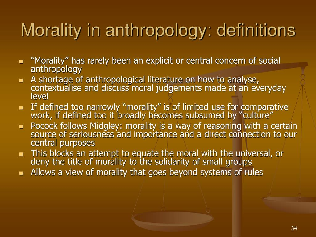 Morality in anthropology: definitions