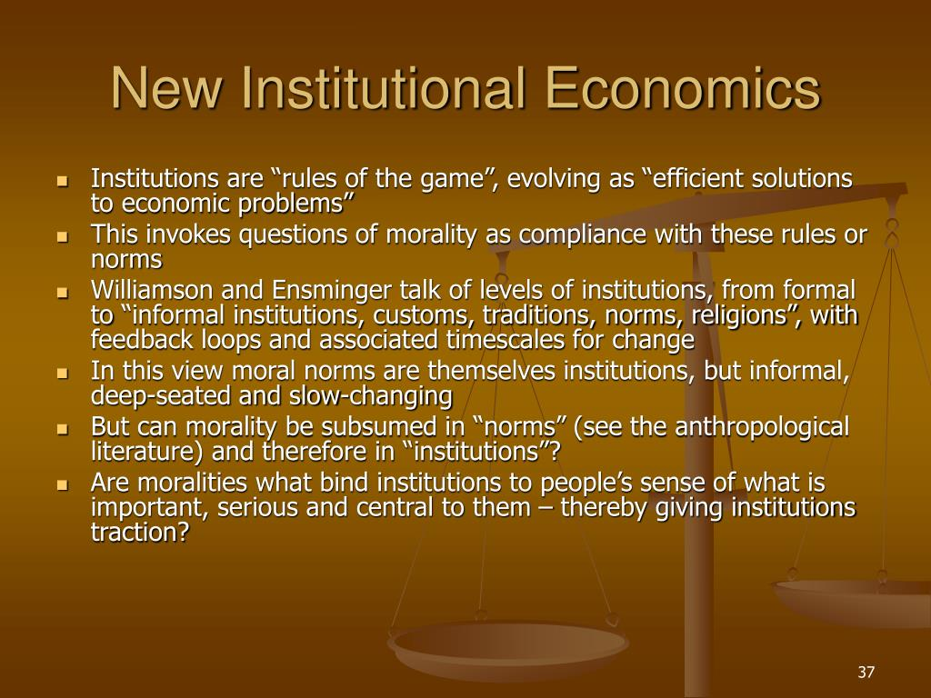 New Institutional Economics