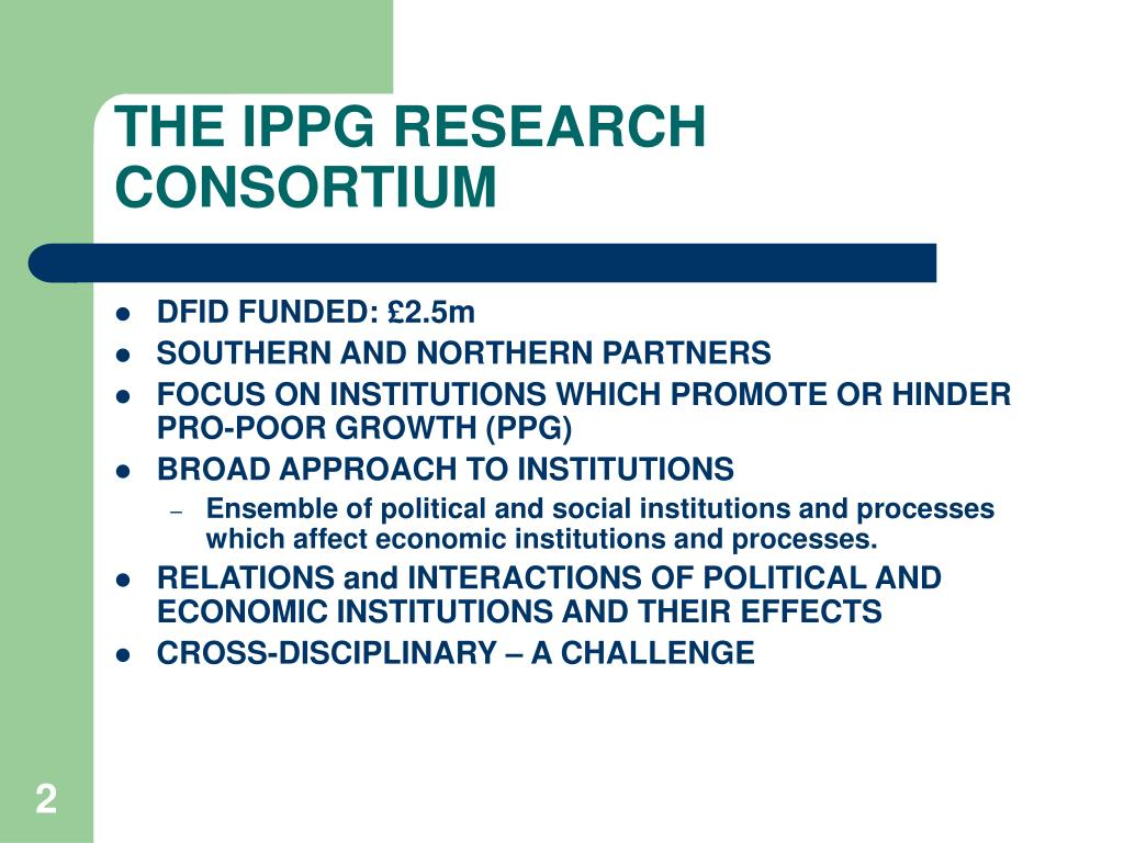 THE IPPG RESEARCH CONSORTIUM