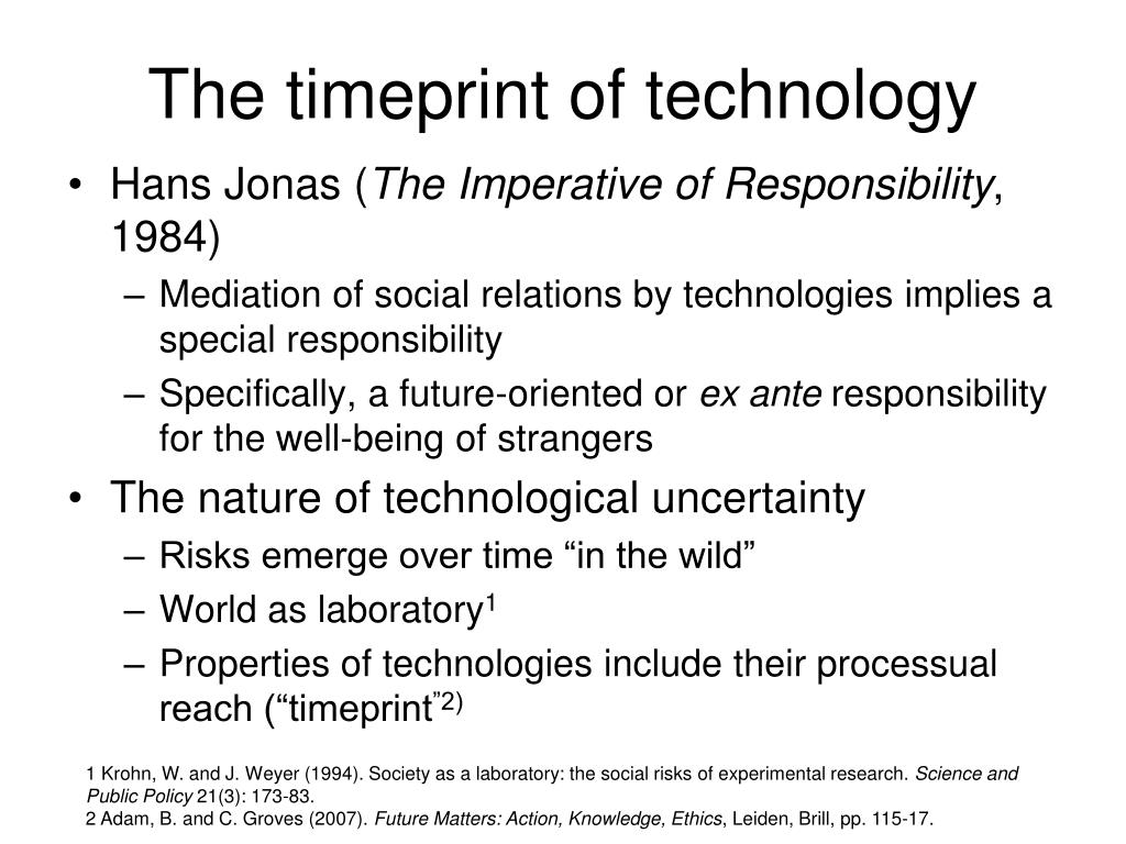 The timeprint of technology