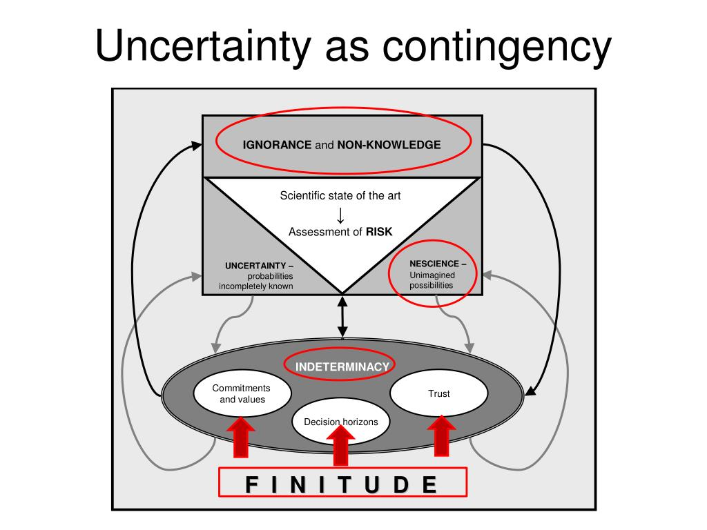 Uncertainty as contingency