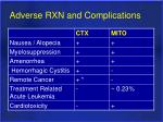 adverse rxn and complications