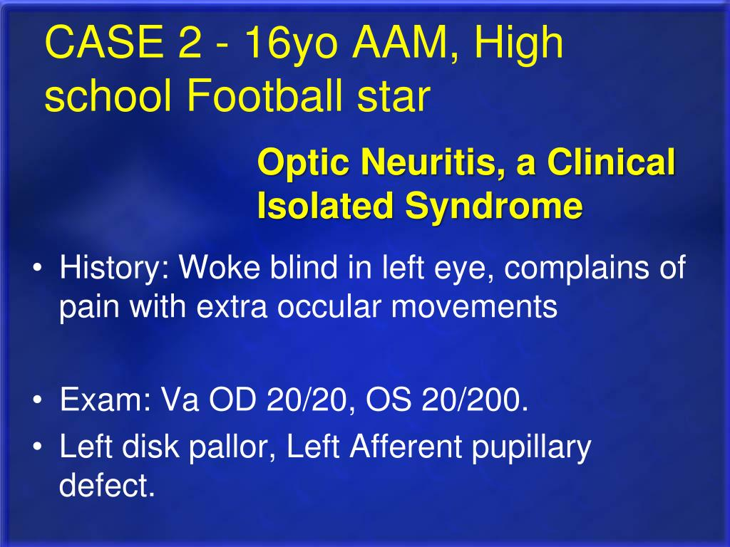 CASE 2 - 16yo AAM, High school Football star