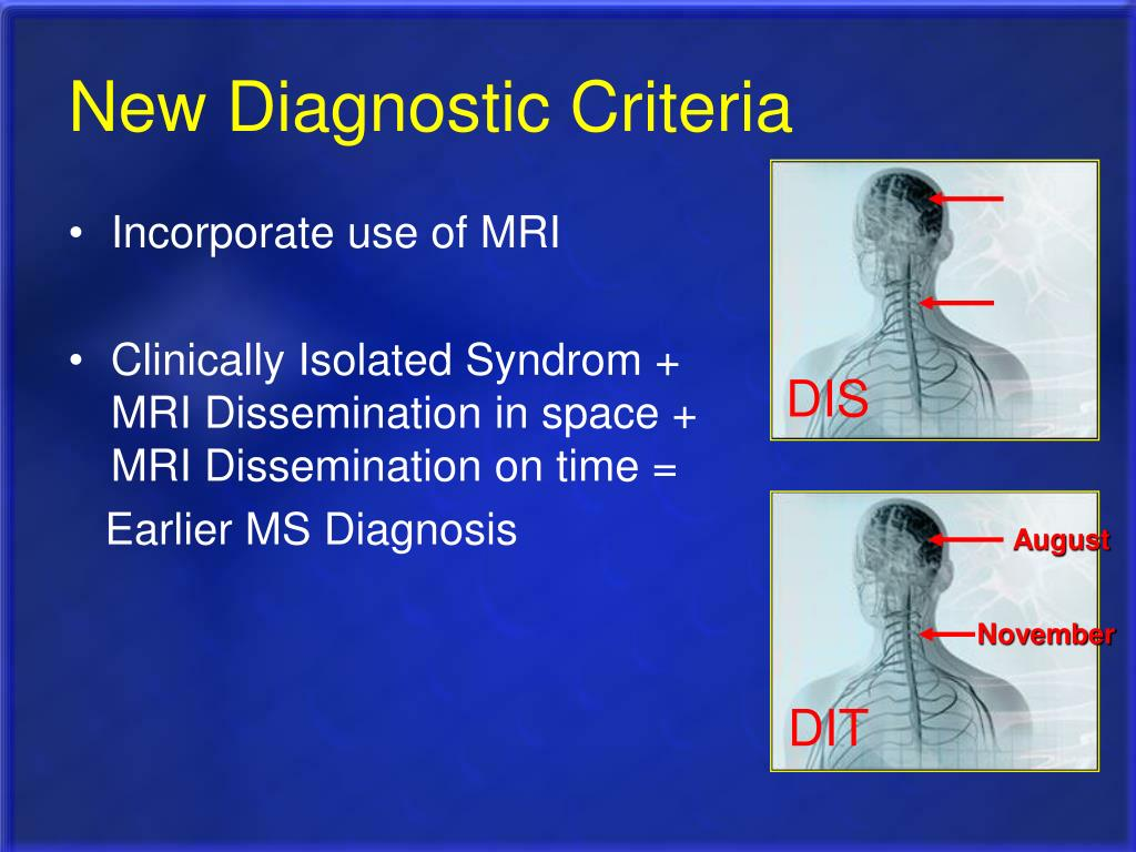 New Diagnostic Criteria