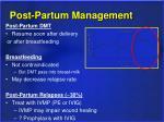 post partum management