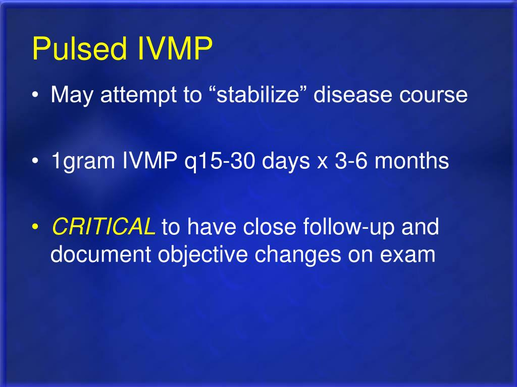 Pulsed IVMP