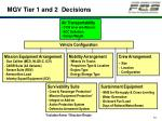 mgv tier 1 and 2 decisions