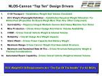 nlos cannon top ten design drivers