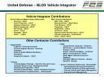 united defense nlos vehicle integrator